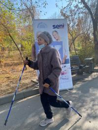 Команда Seni приняла участие в марафоне по скандинавской ходьбе